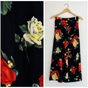Vintage 80s Rose Skirt